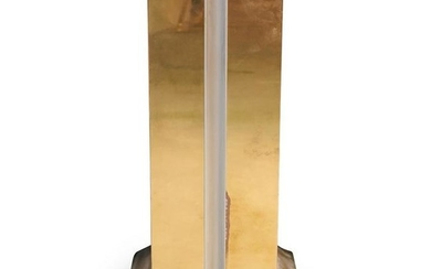 Karl Springer Brass and Chrome Pedestal