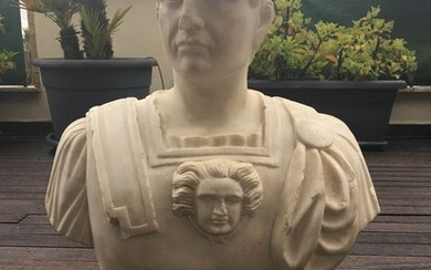 L. Fristoni F.1861 - Bust in statuary white marble - Marble - First half 20th century
