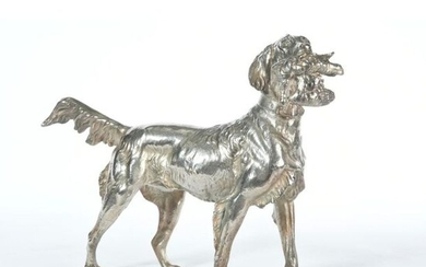 LARGE SUBJECT in silver plated bronze representing a...