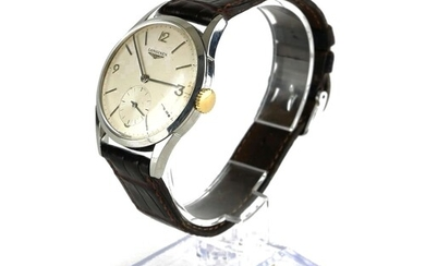 LONGINES, A VINTAGE STAINLESS STEEL GENT'S WRISTWATCH Having...