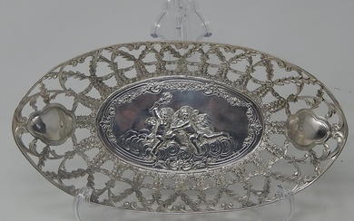 Late 19th Century Continental Silver Table Centre Basket of ...