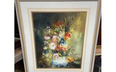 Lillias Blackie Large original oil painting depicting bouque...