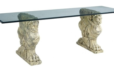 Marble and Glass Table in the Neoclassical Taste