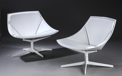 Markus Jehs and Jürgen Laub. A pair of lounge chairs, model Space, Brown label 2014 JL11. (2)