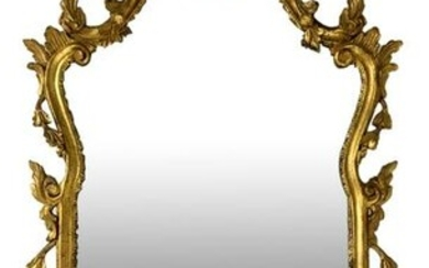 Mirror in gilded wood leafy, late nineteenth century.