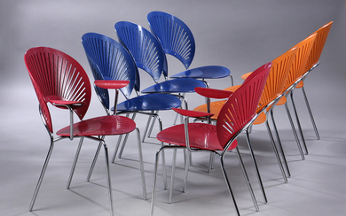 Nanna Ditzel. A set of eight 'Trinidad' chairs, model 3297 and 3298. (8)
