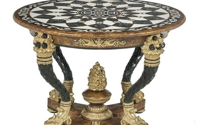 Neoclassical-Style Pietra Dura Center Table