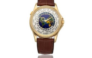 PATEK PHILIPPE | REF 5131J, A YELLOW GOLD AUTOMATIC WORLD TIME WRISTWATCH WITH CLOISONNE DIAL CIRCA 2011