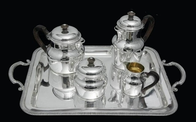 PUIFORCAT FRENCH ART DECO STERLING SILVER TEA / COFFEE