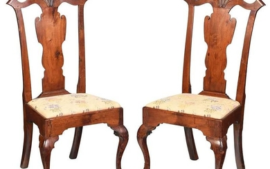 Pair Philadelphia Chippendale Side Chairs