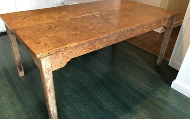 Pine Farm Table with Carved Apron
