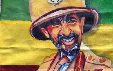 Portrait Of Haile Selassie, Oil On Canvas, Unsigned