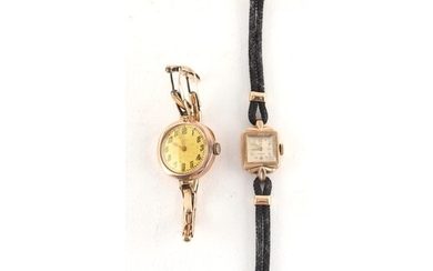 Property of a deceased estate - a lady's Omega 9ct gold case...