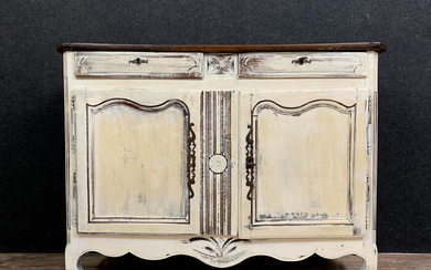 Provencal buffet - Louis XV Style - Lacquered wood and white lead - 19th century