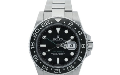 ROLEX | REFERENCE 116710 GMT-MASTER II A STAINLESS STEEL AUTOMATIC DUAL TIME WRISTWATCH WITH DATE AND BRACELET, CIRCA 2008