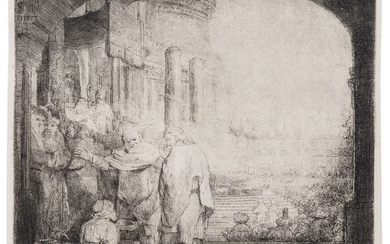 Rembrandt van Rijn (1606-1669) Peter and John Healing the Cripple at the Gate of the Temple