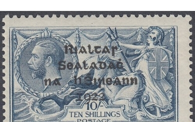 STAMP IRELAND : 1922 10/- Dull Grey Blue mounted mint SG 21