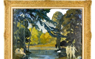 Signed Nude Females Painting After George Henry