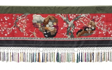 Silk embroidered furnishing fabric Ethnic minorities, South-East Asia, 20th Century