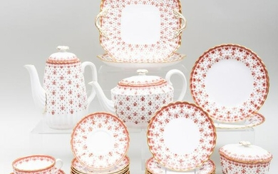 Spode Porcelain Tea and Coffee Service in the 'Fleur De