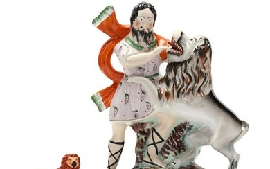 Staffordshire Figural of The Lion Tamer