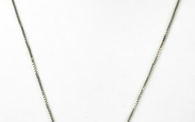 Sterling Silver & Large Tahitian Pearl Necklace