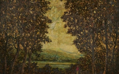 Style of Blakelock Landscape Oil on Canvas