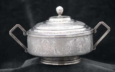 Sugar bowl - .840 silver - Iran - Early 20th century