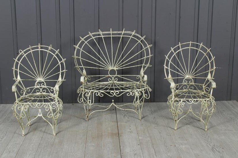 Suite of 3 Child Sized Wirework Seats