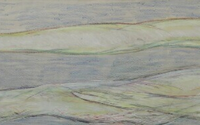 """NOT SOLD. Svend Wiig Hansen: Composition from """"Skabelsen"""". Oil pastel and gouache on paper. Visible..."""