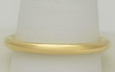 TIFFANY & CO 750 18k YELLOW GOLD SOLID ROUNDED RING