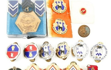 US MILITARY MEDALS & DIVISION PINS LOT OF 24