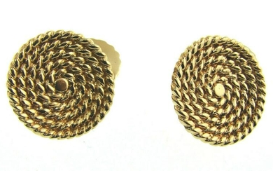 Vintage Cartier 14k Yellow Gold Braided Nautical Round