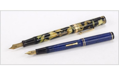 Wahl Black and Pearl Personal Point Fountain Pen.