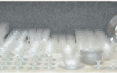 (117) ETCHED GLASS STEMWARE