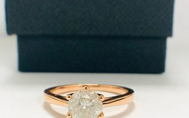 14ct Rose Gold Diamond solitaire ring featuring, round...