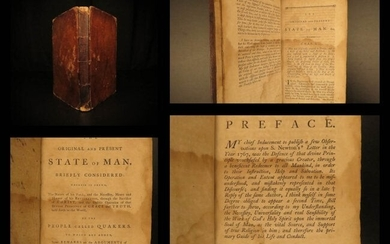 1793 EARLY American Quaker Tract Present State of Man