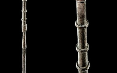 17th C. Chinese Iron Hand Cannon w/ Wooden Pole