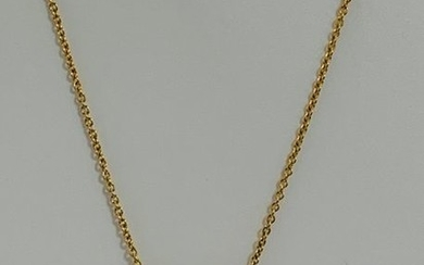 18ct Yellow Gold Diamond necklace featuring, round brilliant...