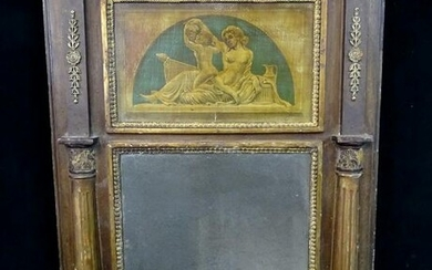 19TH C. TRUMEAU MIRROR 32X24""