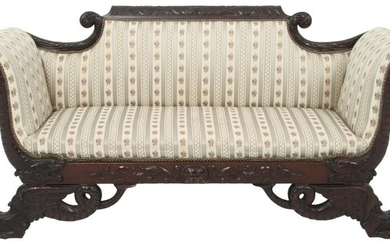 19th Century Mahogany Federal Style Sofa