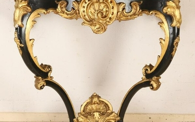 19th century stucco with wood wall console table with
