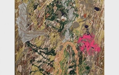 20th C. Drip Art Abstract Oil on Canvas Painting