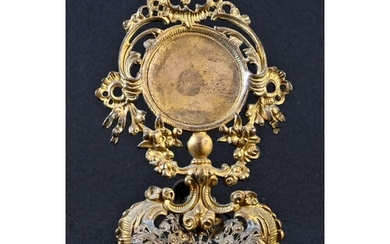 A 19th century French Rococo Revival gilt metal pocket watch...