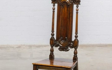 A Baroque style carved walnut side chair