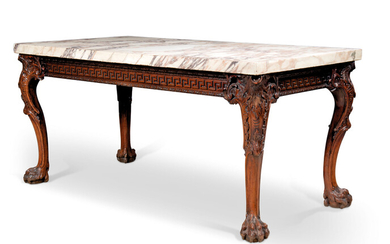 A GEORGE II WALNUT SIDE TABLE