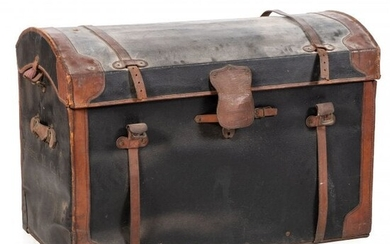 A Leather Bound Steamer Trunk
