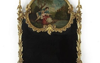 A Louis XV Style Gesso and Giltwood Trumeau.