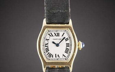 A RARE LADIES 18K SOLID GOLD CARTIER LONDON TORTUE