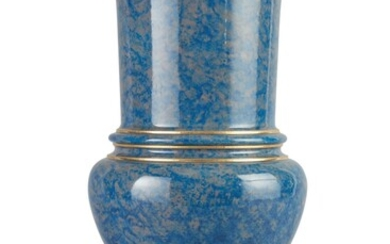 A SEVRES MOTTLED-BLUE-GROUND MEDICI VASE, CIRCA 1883